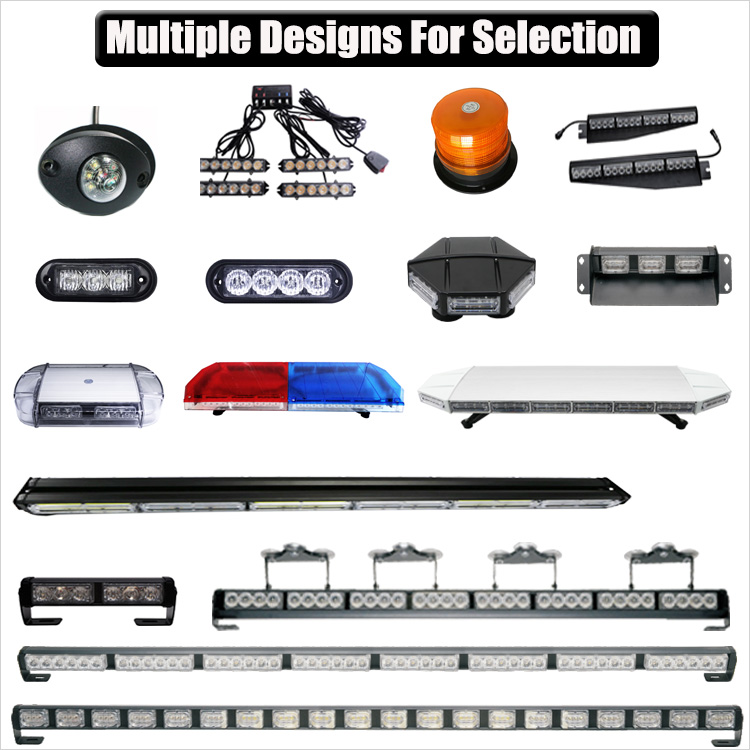 "Amber 88 LED 47"" Law Enforcement Emergency Hazard Warning Flashing Car Truck Construction LED Top Roof Strobe Light Bar"