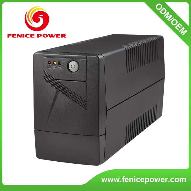 LED display PC Power line interactive UPS 650va 360watt with Universal socket Nema socket for computer