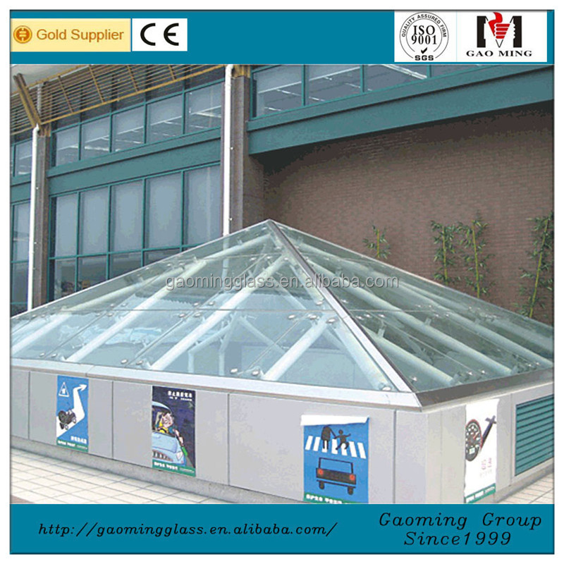 Install Tempered Glass Roof Skylight Covers Pyramid Skylight Customized 2821