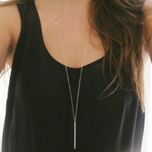 Simple loops stick long necklace XL239