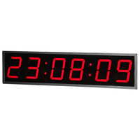 Red 7 Segment Led Display POE Clock 3/4/5/6/8/12 Inch 6 Digits 4 Inch LED Display Clock