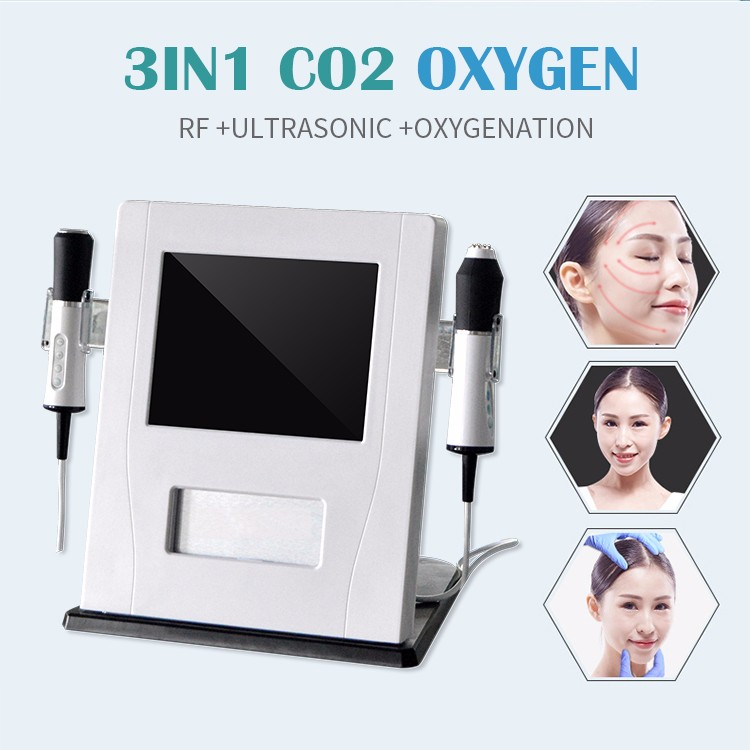 3 in 1 CO2 Bubble Oxygen RF Ultrasound Facial machine skin tightening and cleaning machine TM-HO3.0
