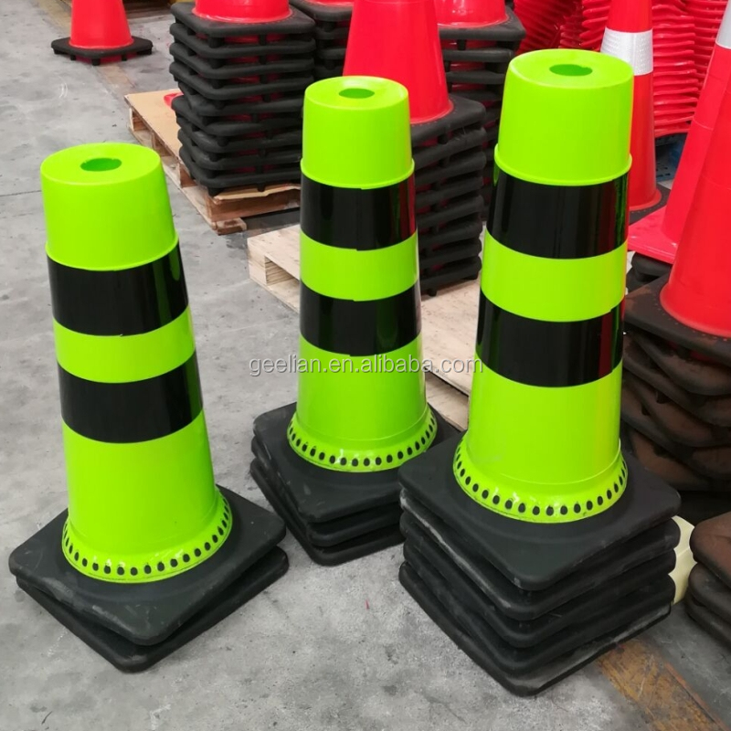 "New style Collapsible Fluorescent Orange 28"" PVC Traffic Cone"