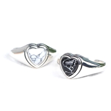 925 sterling silver adjustable heart shaped ring designs for women girls 925 sterling silver ring heart imprint single ston ring