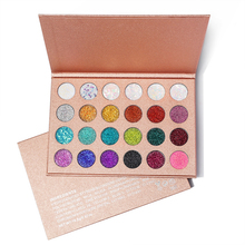 OEM Glitter ingedrukt 24 color Eyeshadow Palette Make Pressed Glitter Oogschaduw