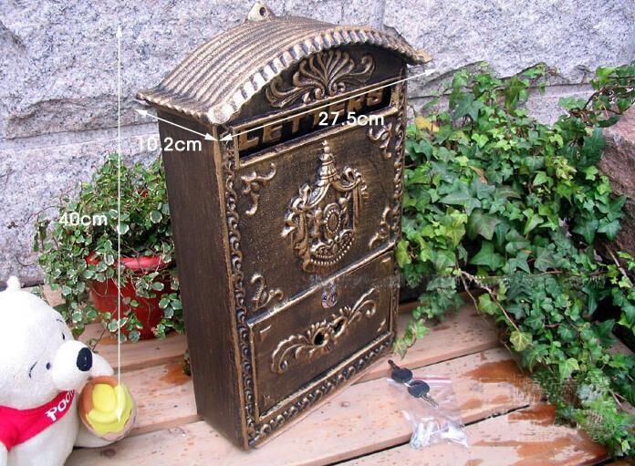 Aliexpress.com : Buy Cast Iron Mailbox Postbox Embossed