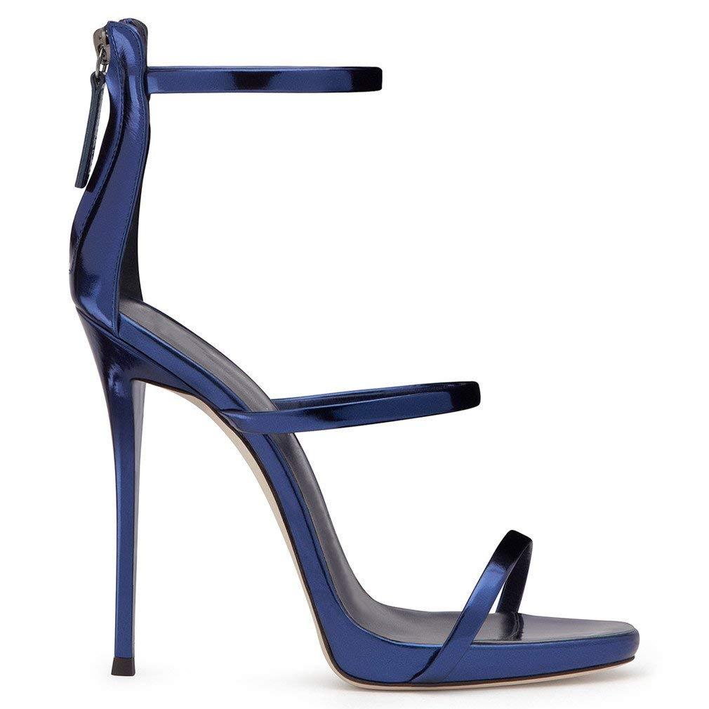 LUCKY ROAD High Heels Creative Sandals Platform 1Cm Stiletto Heel Women Girls Ladies Suede Court Shoes Night Light Bar Party Modern Shoes,White,EU41
