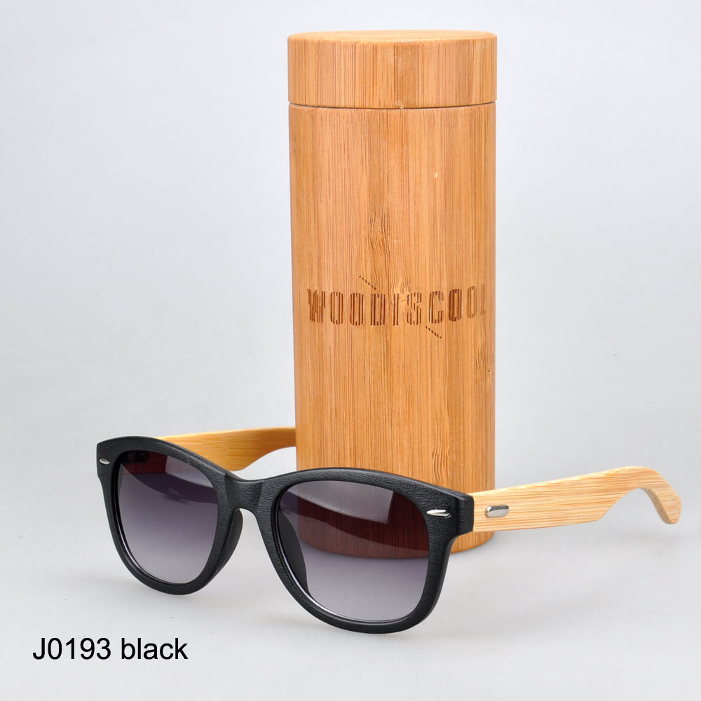 Bright Vision Pouch and bamboo case together Durable hot selling bamboo legs sunglasses