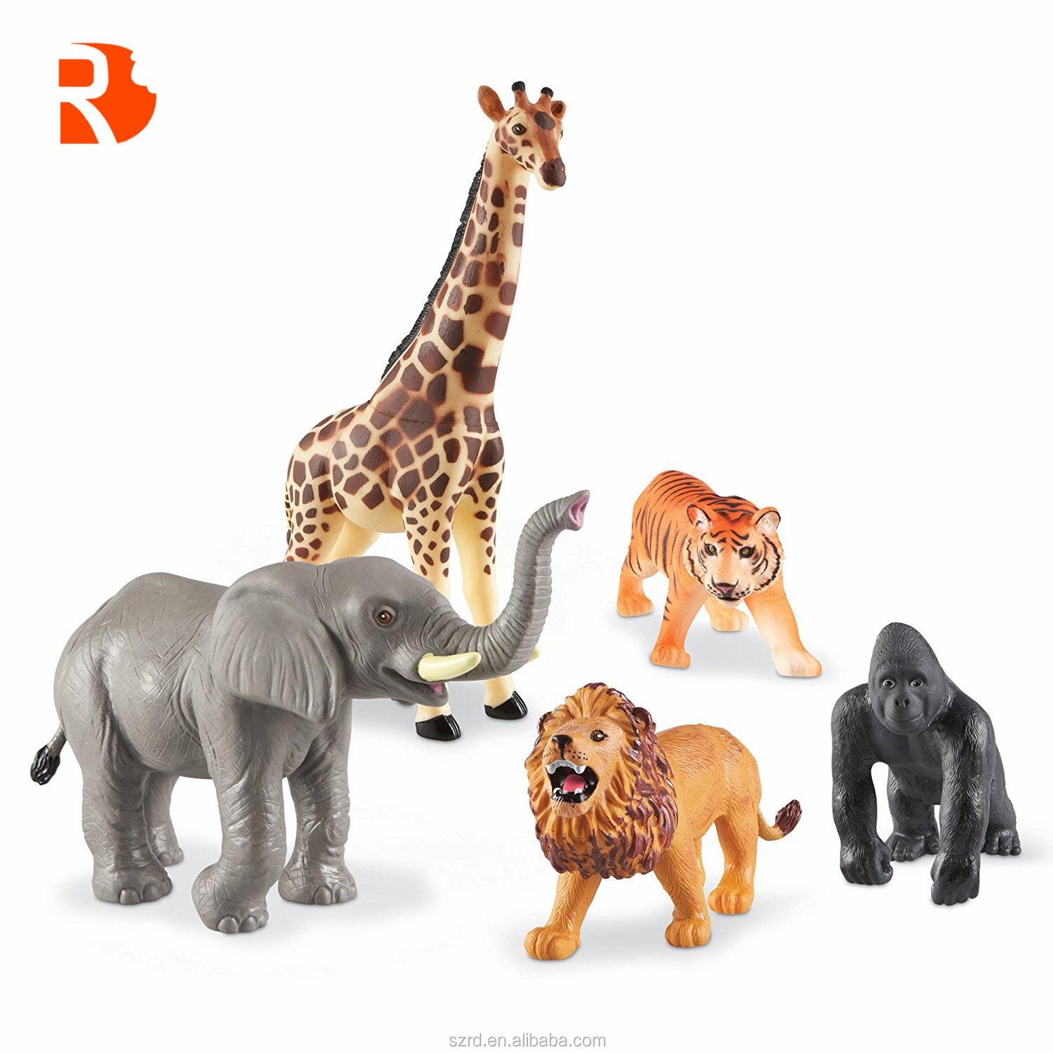 amazoncom animal figure8 inch jumbo jungle animal toy - 1000×1000