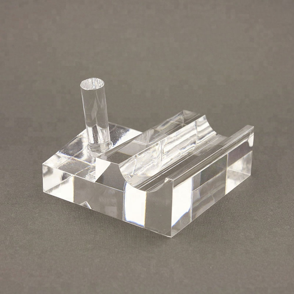 Transparent Acrylic Desk Single Pen Holder Customized Clear