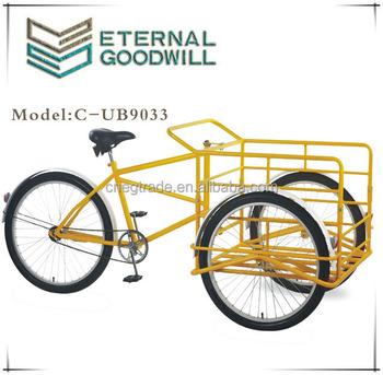26inch Three Wheel Cargo Tricycle Ub9033/steel Frame Heavy Duty ...