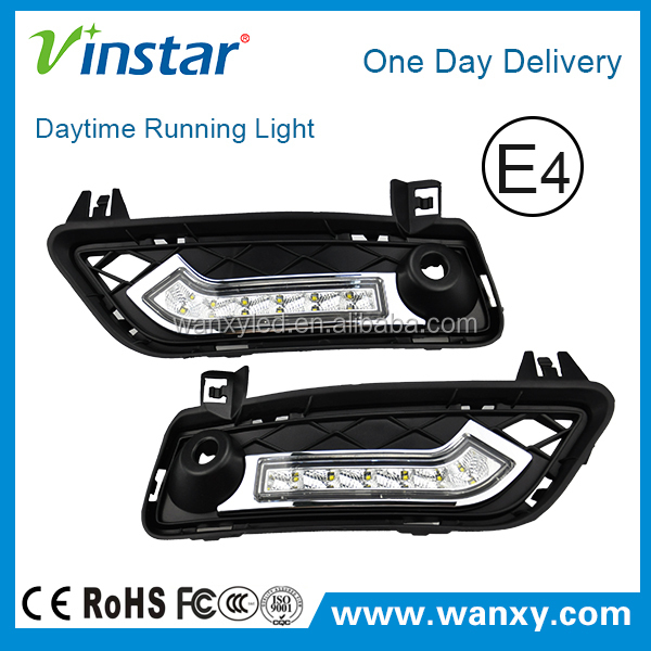 Exact Fit 6w High Power LED Daytime Running Lights Assembly For 2011-up BMW F25 X3 (Replace Bumper Grills)