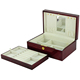 Glossy Cherry Wood Mirror Jewelry Packaging Box with Removeable Tray Inside