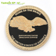 Design your own logo custom America Brave eagle metal antique commemorative coin