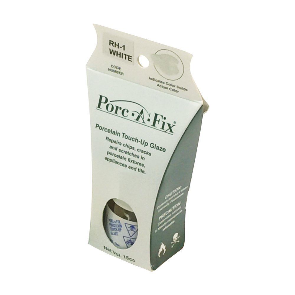 Rohl PORCAFIXALLIAWHITE Porc-A-Fix Porcelain Repair Touch Up Glaze Kit in Allia White Only for Allia Porcelain or Fireclay Sinks 15cc Jar or Bottle for Chips Cracks