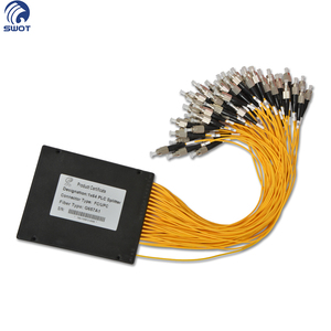 Shenzhen G657A1 fiber optic 1x64 PLC optical splitter plastic abs box with FC UPC connector