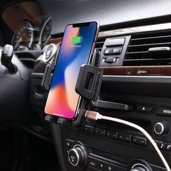 360-degree rotation car phone holder cd slot for phone