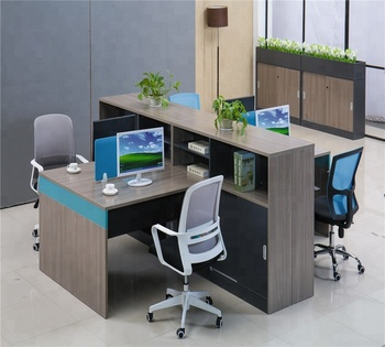 4 Seater Office Desk 2 Person Standing Product On