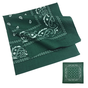 wholesale headband for men 100% cotton dark green custom paisley bandana