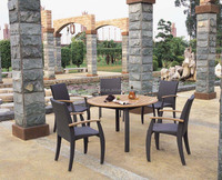 Outdoor Furniture outdoor dining tables and chairs patio sets teak wood top
