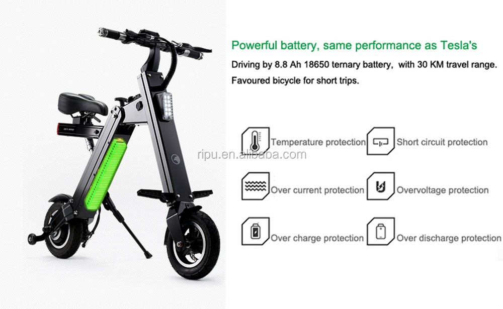 Light Weight Two Wheel Cheap Electric Folding Scooter With ...