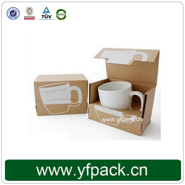 Fancy Single Custom Mug Packaging Foldable Corrugated Box For Cup