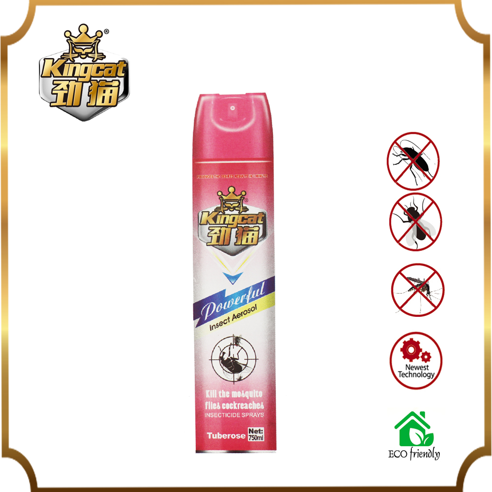 Custom Kingcat Insecticide Aerosol Insect Killer Sprays for Repel Mosquito Flies Cockroaches