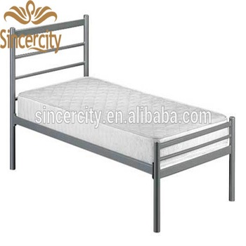 Silver Colour Bed Metal Single