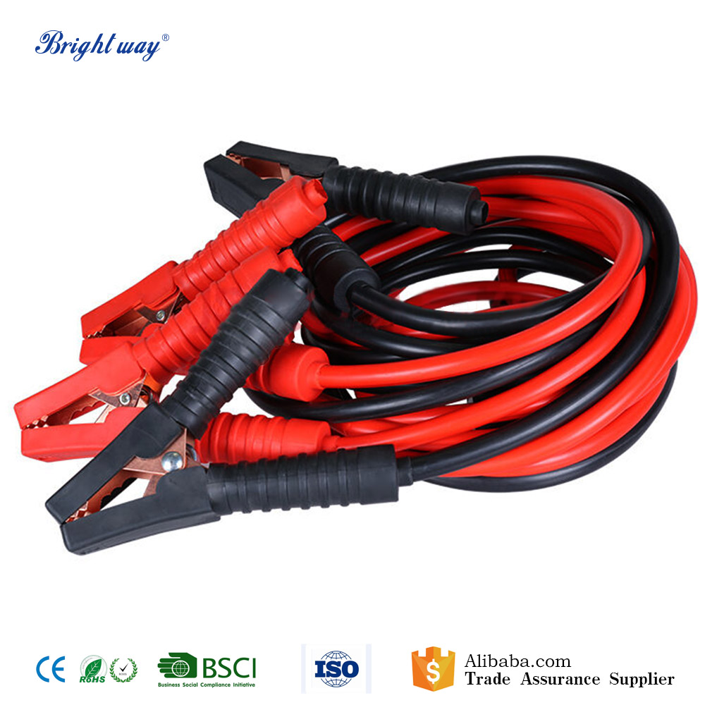 500A 7 Gauge Heavy Duty Car Battery Booster Cables Jumper Cable Clamps for Cars
