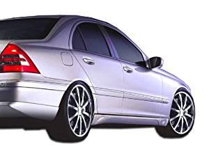 2001-2007 Mercedes C Class W203 Duraflex LR-S 2 Side Skirts Rocker Panels - 2 Piece (Overstock)