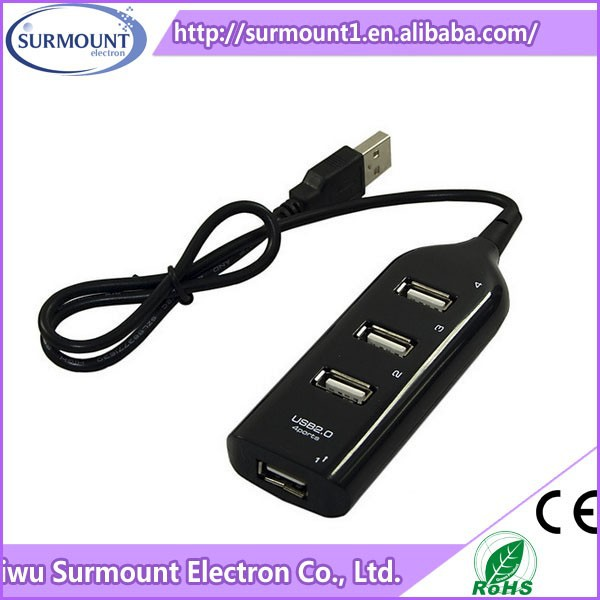 Universal High Speed 4 Port Battery Powered Usb 3.0 Hub for Notebook
