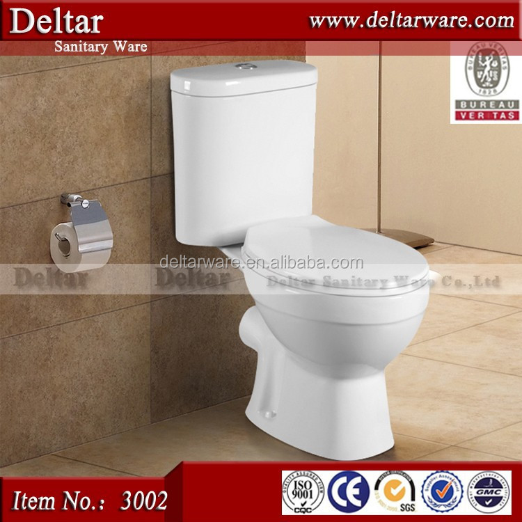 Professional WaterMark Toilet Export Company , white color two piece toilet for sale, watermark toilet