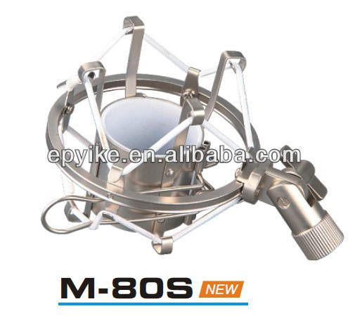 Nice Looking Silver M-80S Shock Mount For Recording Microphone