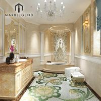 Custom 3D architectural construction luxurious hotel palace bathroom interior design service