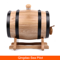 Customize size 3L Oak Casks Red Wine Liquor Storing Bladder Oak Wooden Decoration Whiskey Barrel