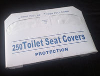 Half fold recycled paper toilet seat covers /Toilet paper cover/TSC