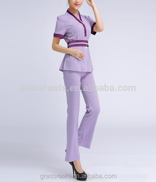Dise o de moda sal n de guangzhou fabricaci n mujeres spa for Spa uniform indonesia