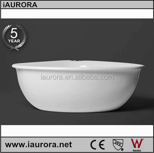 High grade hot sell removable acrylic free standing triangle bathtub
