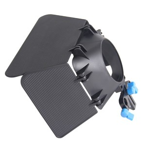 ABS Plastic Black Matte Box for Follow Focus and DSLR Rigs 15mm Standard Rods Light Weight for Cameras DV Camcorder