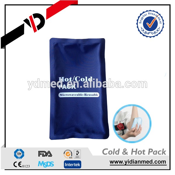 Sports use soft ouch hot cold pack with colth cover for cold storage
