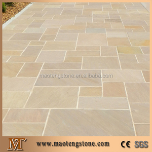 Culture stone, Flagstone/Outdoor Slate Stepping Stones/Irregular Shaped Slate Tile, Yellow Stack Stone