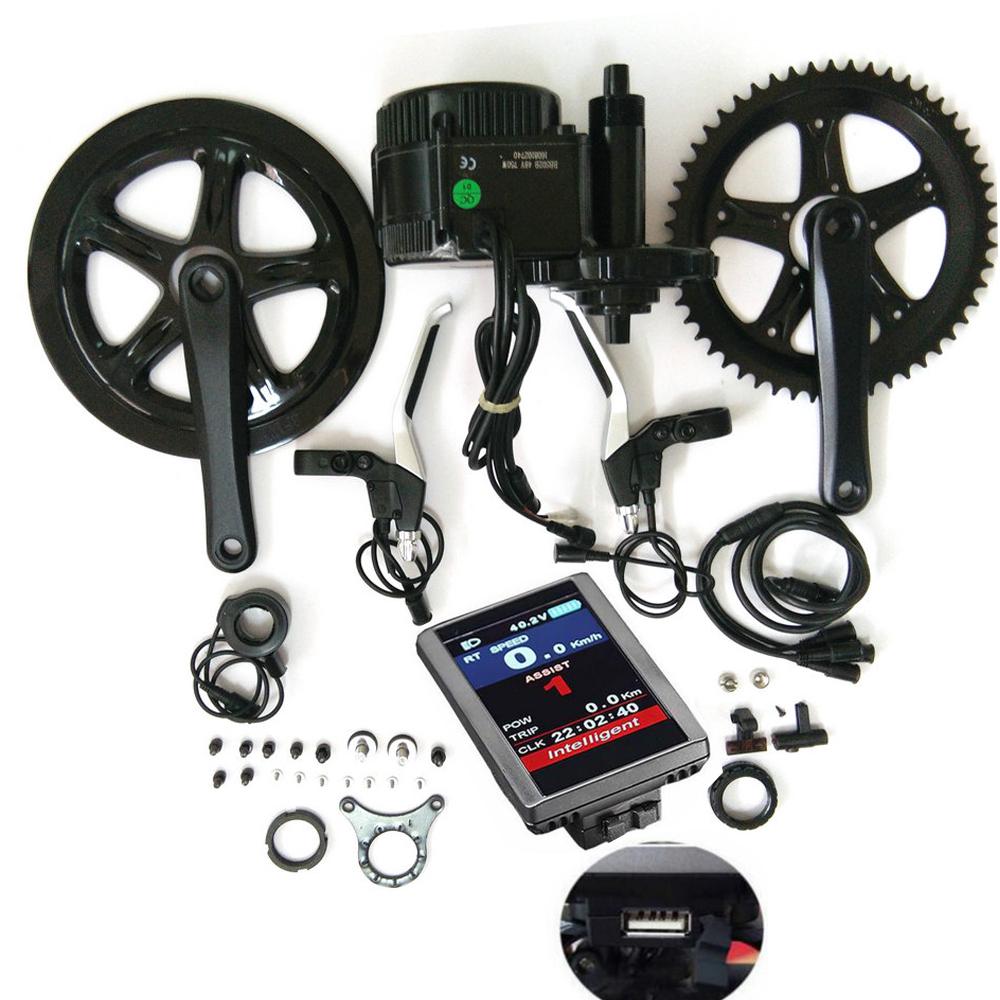 bafang p850c dp c14 color LCD display MM G340 bbs 01 36v 250w electric bike conversion kit mid drive motor, Black
