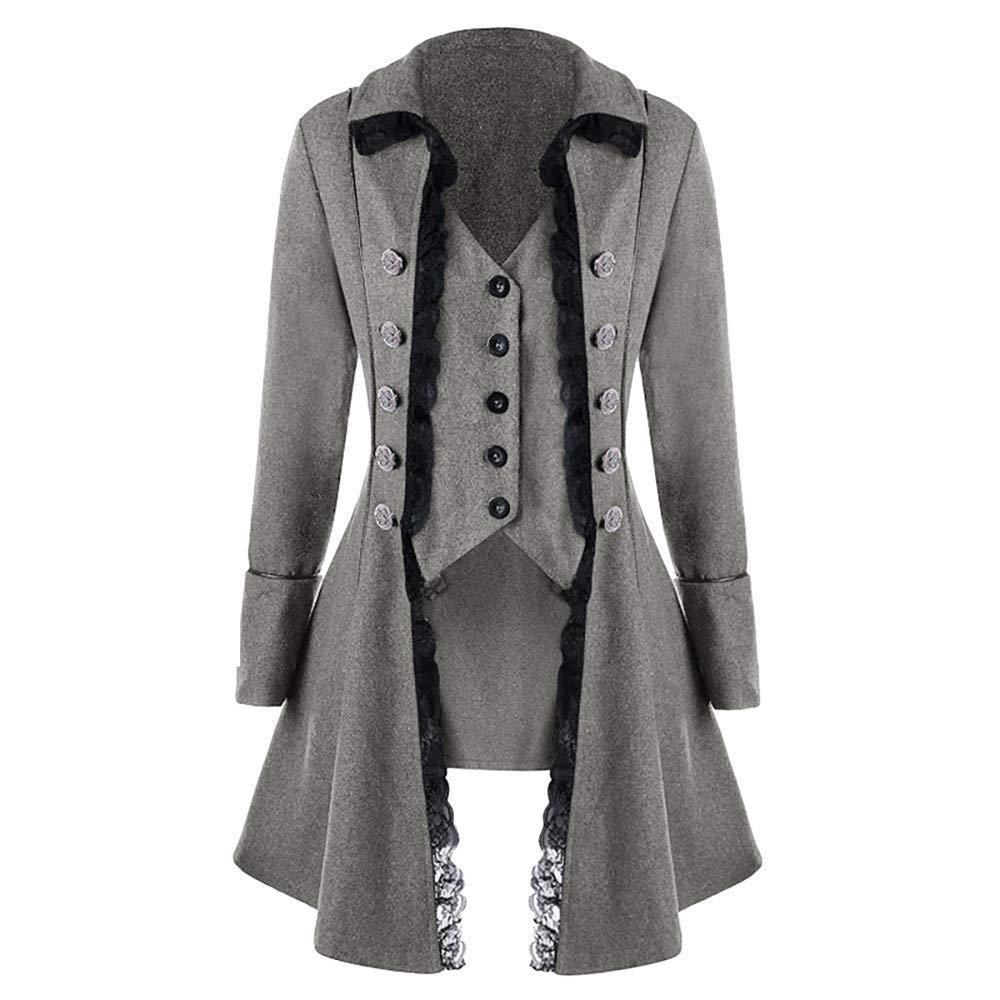 d5c75b28438a Get Quotations · iTLOTL Men s Coat Tailcoat Jacket Gothic Frock Coat  Uniform Costume Praty Outwear