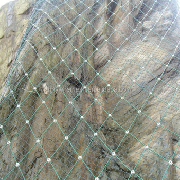 SNS Slope netting  rock fall Protection System rockfall barrier netting wire rope mesh