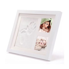 O primeiro ano do bebê photo frame <span class=keywords><strong>10</strong></span> polegada handprint e pegada do bebê photo frame