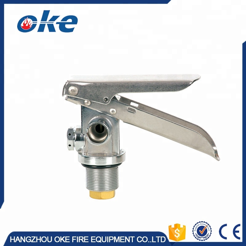 High Pressure CO2 Fire Extinguisher Brass Valve With Steel Handle