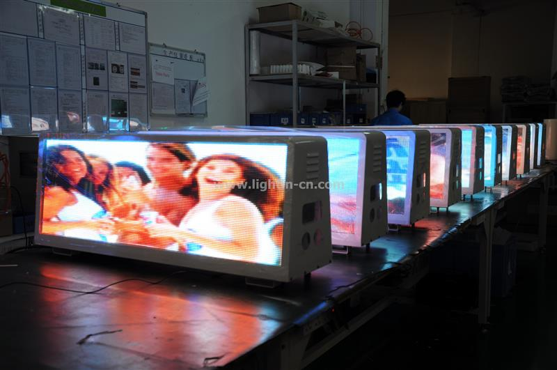 provide bus lcd screen advertising taxi top light
