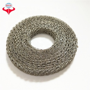Custom AISI 316 stainless steel ring shaped compressed knitted wire mesh filter