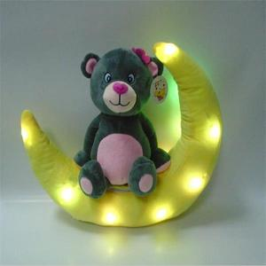 2017 New LED Light Teddy Bear Plush Toy Custom Moon led Bear For Kids