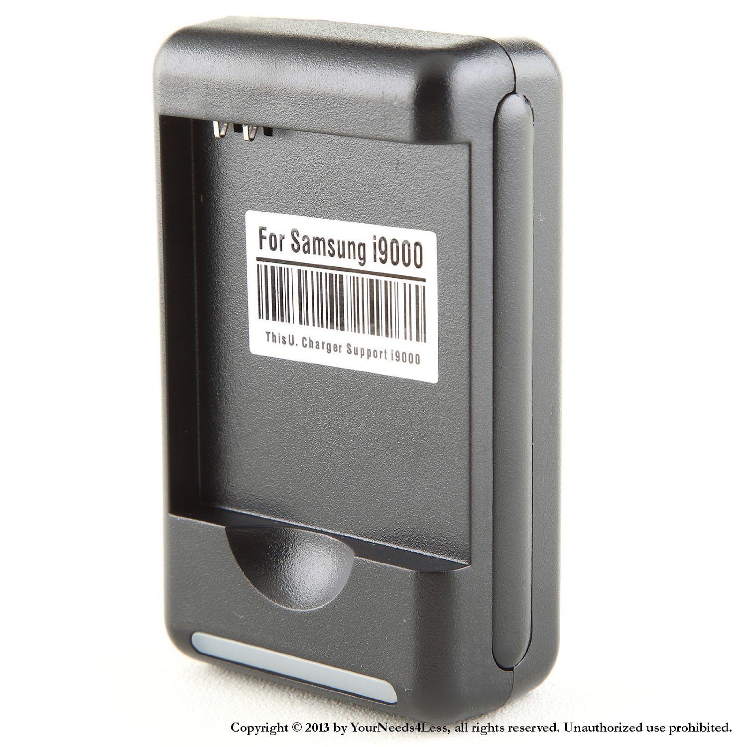 YN4L® Wall Home AC Desktop Dock Battery Charger For Standard battery for Galaxy S Epic Touch 4G D710 Sprint; Samsung Galaxy S II R760; Samsung Galaxy S Epic 4G SPH- D700; Samsung Galaxy S i500 Fasciate Mesmerize; Samsung Galaxy S Captivate i897; Samsung Galaxy S GT i9000; T959 Vibrant